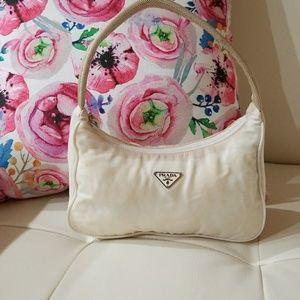 Prada mini handbag  cream white